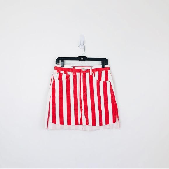 123028520e9 ASOS Glamorous Striped Denim Skirt